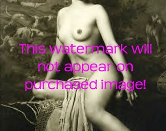 EXOTIC NUDE Sassy Model Vintage Photo Reprint ...MATURE