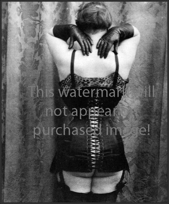 SEXY Corset FLAPPER GIRL Vintage Photo Reprint ... Mature