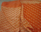 orange gold sari saree fabric destash sale 4 yards