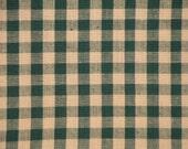Homespun Material | Check Material | Cotton Material | Quilt Material |  Large Green Check Homespun Fabric | 1 Yard
