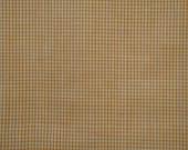 FLAWED Homespun Fabric  Butterscotch Fine Check 1 Yard