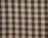 Black Plaid Fabric  |  Cotton Homespun Fabric  |  Basic Plaid Homespun Fabric  |  Rag Quilt Fabric | 1 Yard