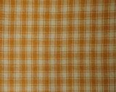 Butterscotch Plaid Cotton Homespun Material End Of The Bolt 50 x 44/45