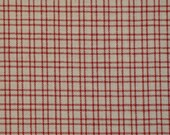 Red Plaid Fabric | Homespun Cotton Fabric | Sewing Fabric |  1 Yard