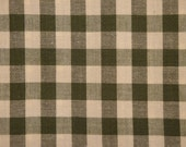 Homespun Cotton Large Sage Green Check 3/8 Inch Material 1 Yard