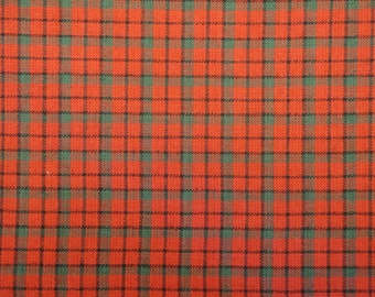 Window Pane Plaid Cotton Red Green And Black Homespun Fabric By The Yard