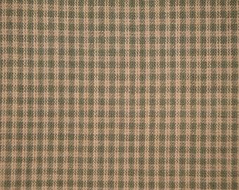 Homespun Fabric | Cotton Fabric | Small Check  Fabric| Sage Green Fabric |  Quilt Fabric | Sewing Fabric | 1 Yard