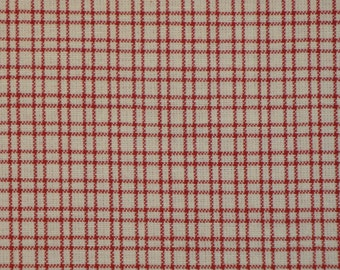 Homespun Cotton Fabric Red Plaid 1 Yard