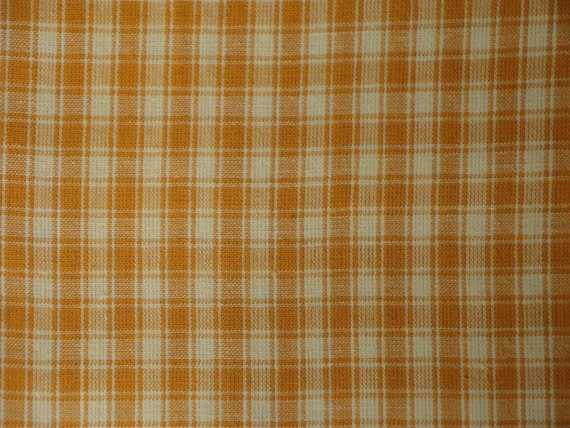 Butterscotch Plaid Cotton Homespun Material End Of The Bolt 50 x 44/45