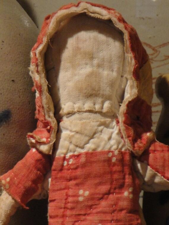 Old Quilt Doll Primitive - HANDSEWN