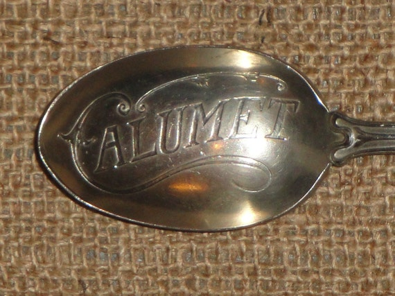 Antique Calumet Baking Powder Advertising Spoon With Indian Chief