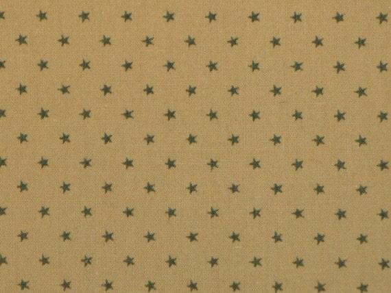 Green Star Fabric Cotton Calico 1 Yard