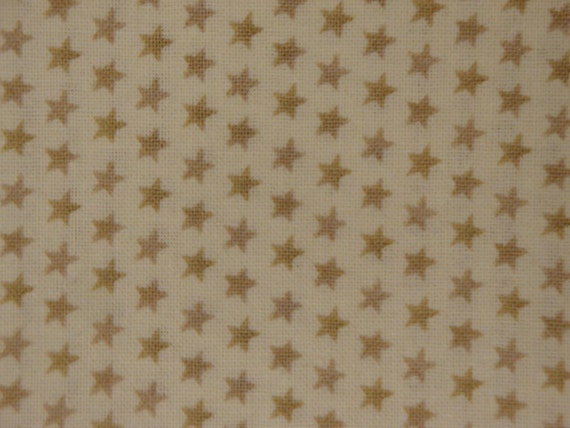 Cotton Star Fabric 1 Yard - David Textile's Artistic Designs Tiny Stars Teatone