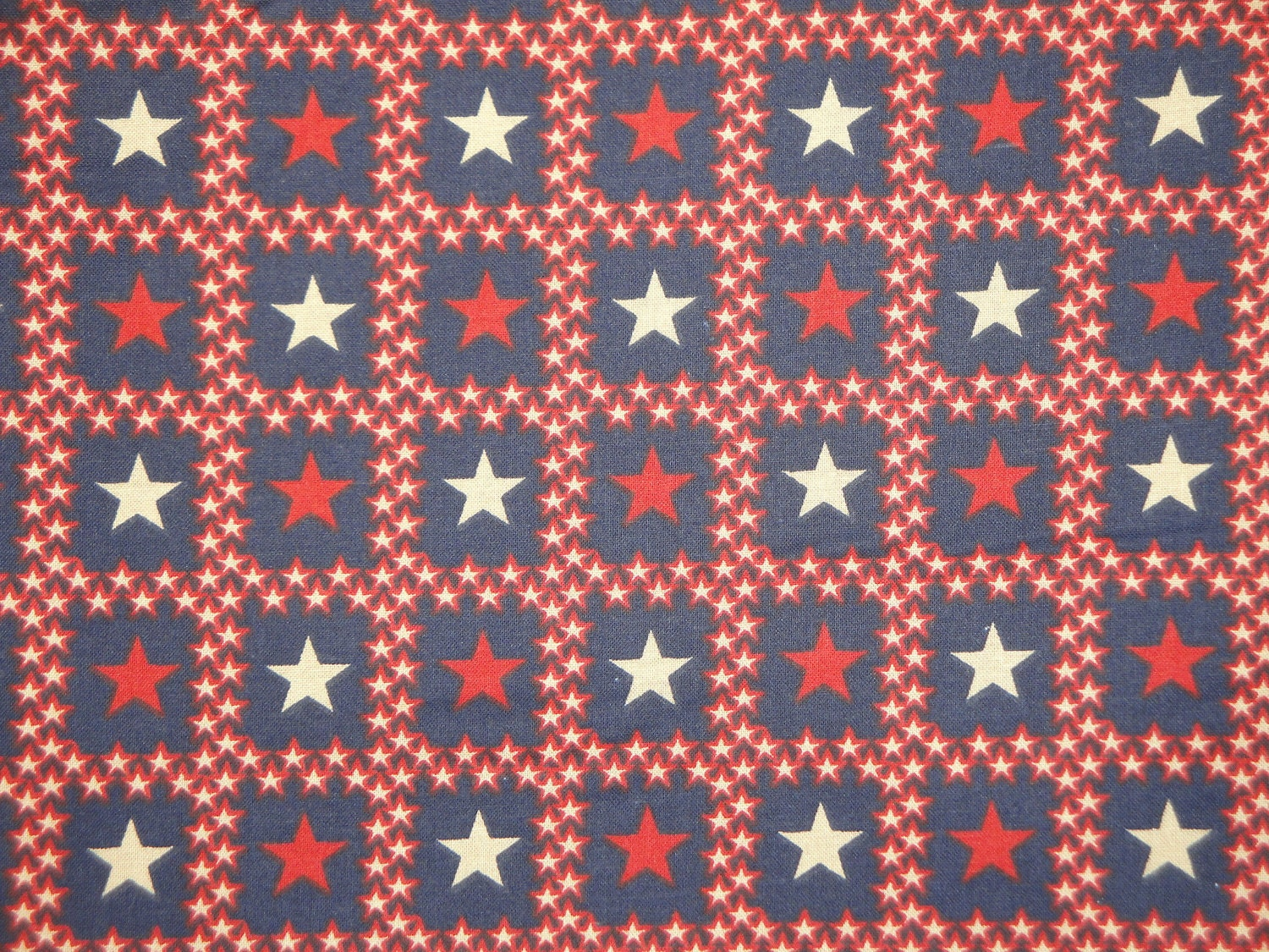 Star fabric americana fabric cotton fabric red white for Star fabric australia