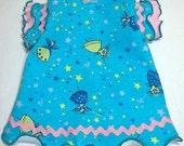 Pet Clothing Dress To Order Princess Fairies Dress Blue Ruffles