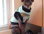 Pet Clothing  Cat Sphynx  Tank Shirt Sleeveless Gators and CrocsTank Tee Size Small All Done and Ready to Ship