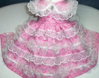 Pink Princess Candy Floss Party Dress To Order Choose Fabric