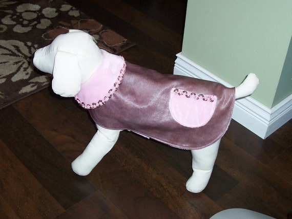 Pet Clothing SALE  Dog Coat OAAK  Pink Lined Waterproof Coat  All Done and Ready To Ship Stylish