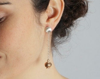 Special order for Elveline..Please Do Not BUY...Full Body Bronze pomegranate Earrings