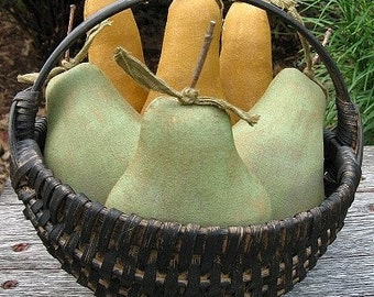 Prim Pears EPATTERN -fake food primitive country craft digital download sewing pattern - PDF - 1.99