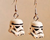 Star Wars Storm Trooper silver earrings in gift box