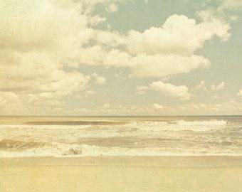 Cloud photo, wedding, cream, neutral, summer, sand, toffee, nautical, landscape, meditation room - Horizon 8x8