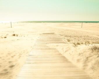 Beach photography aquamarine mint green sand bamboo summer ocean seaside neutral decor blue green - Getaway 8x8