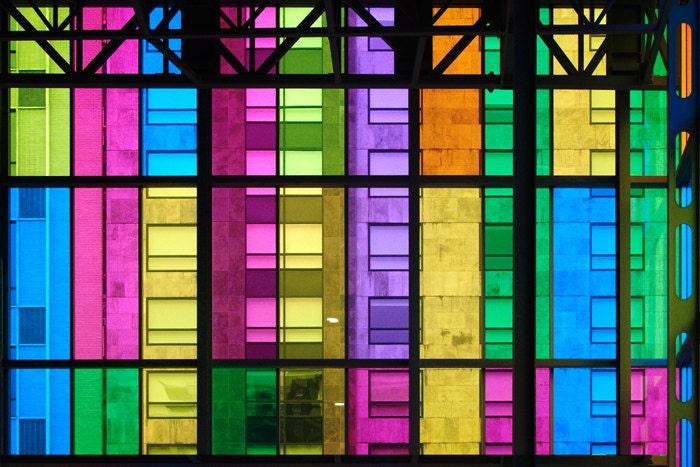 rainbow colors urban photography avant garde architecture. Black Bedroom Furniture Sets. Home Design Ideas