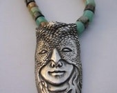 Owl Warrior - a Silver Pendent Necklace