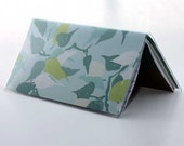 Checkbook Cover Amy Butler Sola Blue Leaves
