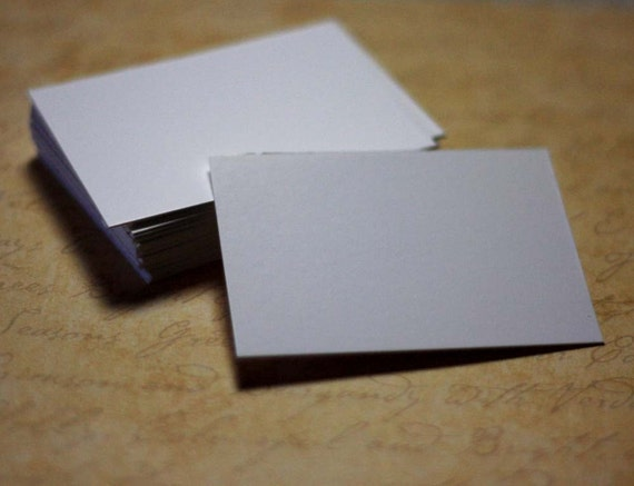 25 White Chipboard ACEO ATC Blanks