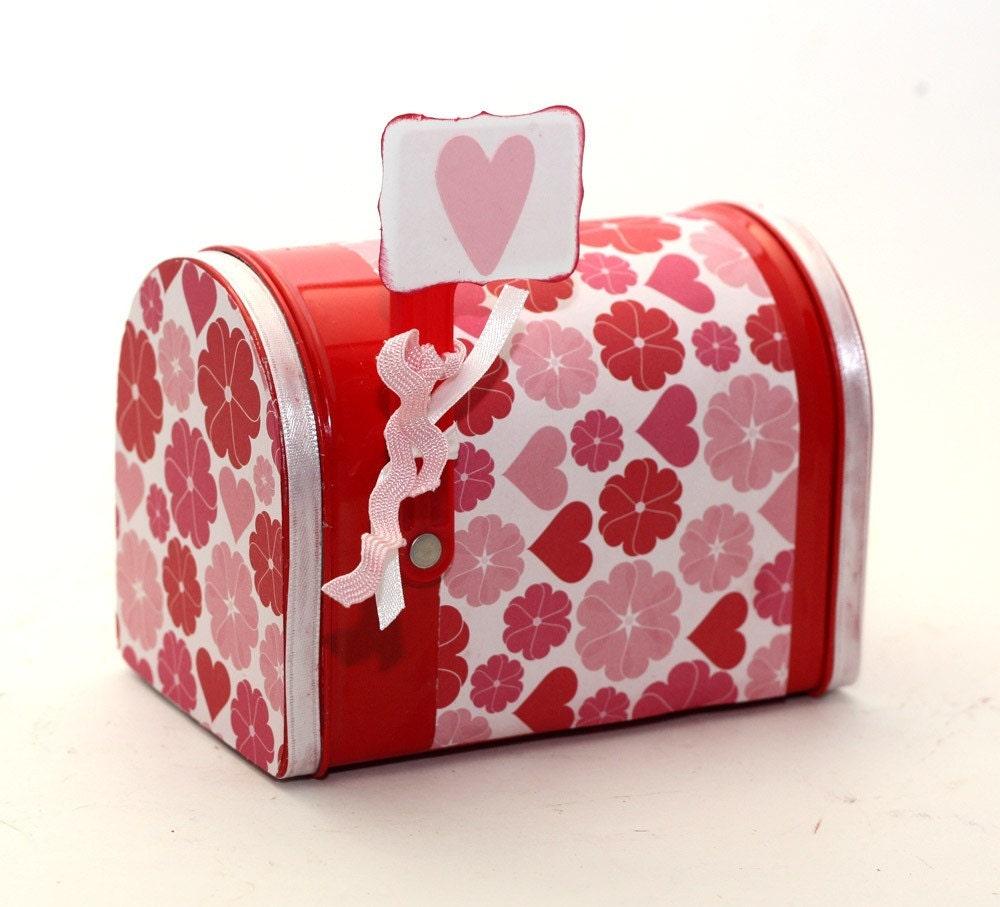 Valentineu0027s Day Mailbox Keepsake Box Gift Card Holder