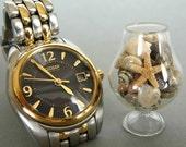 Miniature Seashells in Hand-Blown Glass Brandy Snifter