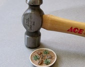 Miniature Dollhouse Sedum Rock Garden Bowl
