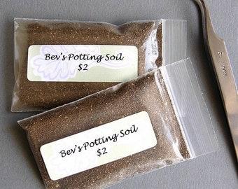 Dollhouse Miniature Potting Soil