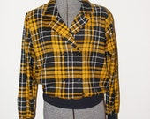 Diane Von Furstenberg Yellow  Plaid Shirt