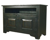 Reserved for Donece - 30% Deposit on Primitive Black 40 inch TV Stand Handmade to Order in Texas