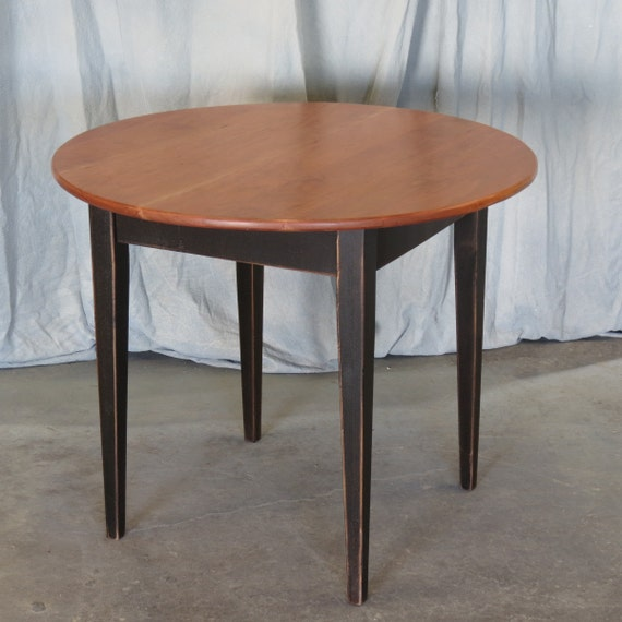 Round Cherry Dining Table with Painted Base by ShakaStudios : il570xN327749578 from www.etsy.com size 570 x 570 jpeg 50kB