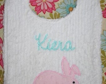 Sweet Spring Bunny Easter Toddler Bib