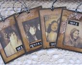 Primitive Vintage Photo Tags Black White Sepia Brown Gifts cssteam ofg team