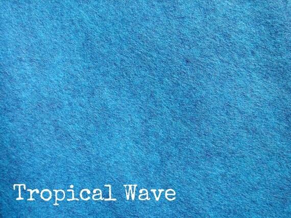 Wool Felt 12 x 18 Sheet - Tropical Wave - BRAND NEW COLOR