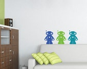Robot Decals - Set of 3