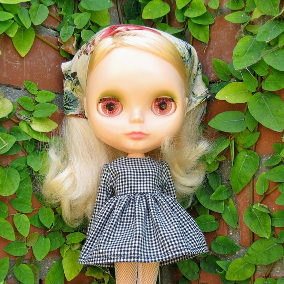 down by the river dress and head kerchief set for blythe in black