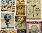 Hot Air Balloons Collage Sheet HAB1