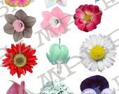 Garden Variety Flower Top Heads Collage Sheet 1FTH