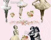 Tiny Dancer Collage Sheet For Altered Art Projects 1tdc INDIVIDUAL PNG Graphics