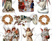 Sweet Cherubs Collage Sheet 1scc You will get a JPEG Sheet and Individual Png Images