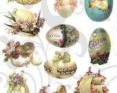 Old Cutz Easter Egg Collage Sheet 3ec Single PNG Images