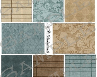 Browns and Blues Backgrounds Collage Sheet 1bb
