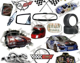 Collage Sheet Lets Go Racing Cool Rides You Will Get a Jpeg Sheet as Well as Individual Png Images
